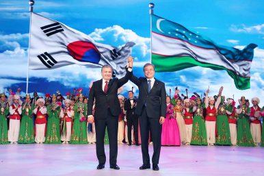 South Korean President Moon Travels Across Central Asia
