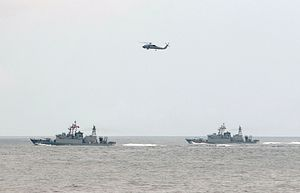 Taiwan Stages Joint Air-Sea Live Fire Exercises