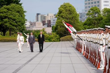 Japan-Singapore Security Ties in Focus With Defense Ministers Meeting