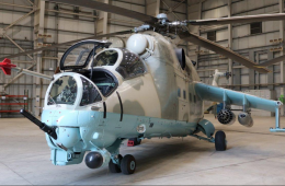 India Delivers Two Mi-24V Attack Helicopters to Afghanistan