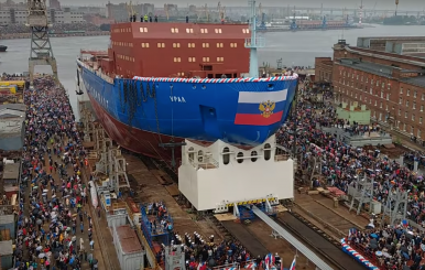Russia Launches New Nuclear-Powered Icebreaker