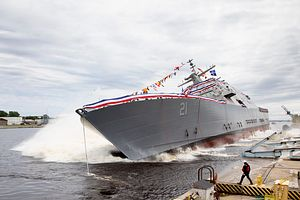 US Navy Launches Newest Littoral Combat Ship