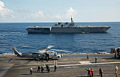 USS <em>Ronald Reagan</em>, JS <em>Izumo</em> Conduct Bilateral Exercises in South China Sea