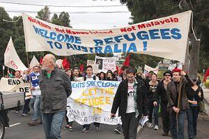 Hundreds of Refugees Protest Outside Australian Parliament