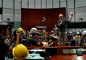 Tensions Boil Over on Hong Kong Handover Anniversary