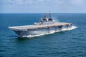 US Navy's New F-35B-Carrying Warship Completes Builder's Trials