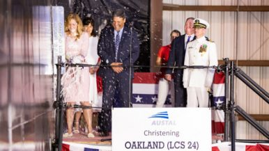US Navy Christens New Littoral Combat Ship