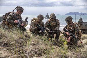 Japan's Marines Storm Beach Alongside Australian, US Troops