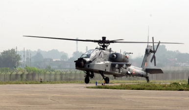 Indian Air Force Inducts AH-64E Apache Attack Helicopter