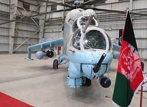 India Delivers 2 More Mi-24V Attack Helicopters to Afghanistan
