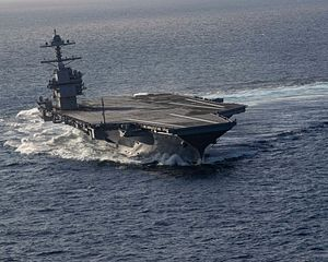 U.S. Navy's First Ford-Class Carrier May Not Deploy Until 2024