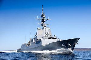 Australia's Third Air Warfare Destroyer Completes Sea Trials