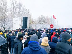 Kyrgyzstan Reacts to Bombshell Investigative Report, Taking to the Snowy Streets
