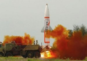 India Test Fires Prithvi-II Short-Range Nuclear-Capable Ballistic Missile