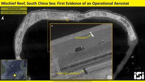 Imagery Suggests China Deployed Surveillance Aerostat to Mischief Reef in South China Sea