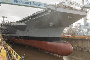US Navy to Christen Second Ford-Class Carrier This Weekend