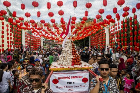Ringing in Chinese New Year in Indonesia