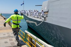Australian Frigate Headed for the Middle East