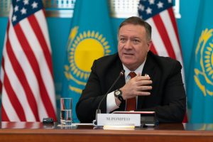 Pompeo, in Kazakhstan, Warns of China's Growing Reach