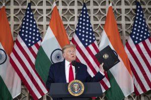 Trump Returns to Domestic Squabbles on India Trip