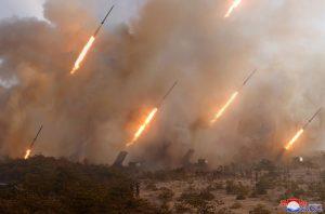 North Korea Conducts Long-Range Artillery Drill