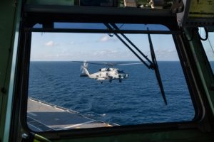 MH-60R Helicopters to Begin Flight Trials Aboard Royal Australian Navy's Largest Warship