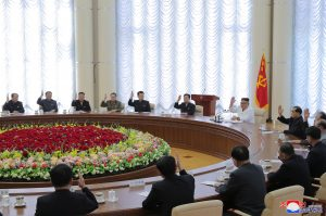 North Korea's Kim Jong Un Oversees Politburo Meeting