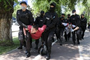 Protests in Kazakhstan Disrupted With Arrests