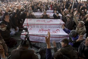 Pakistani Shiites Rally Against Murder of Coal Miners by Islamic State