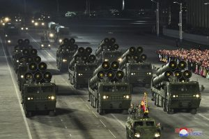 North Korea Holds Nighttime Military Parade After Party Congress
