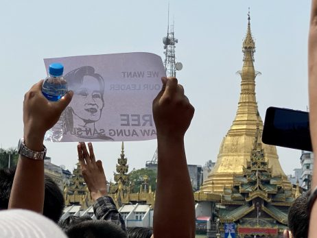 Protests Against Military Coup Sweep Myanmar's Yangon