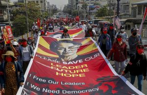 Myanmar Protests Resume After Second Night of Internet Shutdown