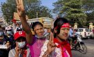 Myanmar Coup Leader: 'Join Hands' With Army for Democracy