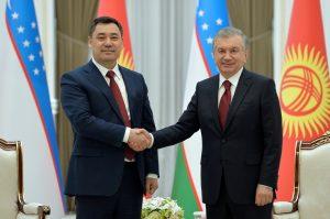 Kyrgyz President Japarov Touches Down in Tashkent