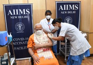 Modi Gets 2nd Vaccine Dose as India Hits Record For Daily Cases