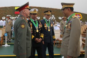 Myanmar Junta Chief Arrives in Russia for Security Conference