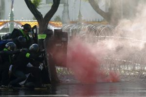Thai Police Forcefully Disperse Protesters Demanding PM's Resignation