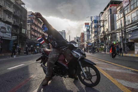 Thai Protesters Face Off With Police in Bangkok