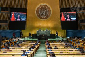China's Xi, Like Biden Hours Earlier, Turns to Calm Language in UN Remarks