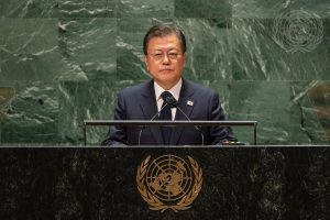 At UN,Moon Again Calls for Declaration to End the Korean War