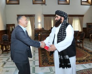 Kyrgyz Officials Meet With Taliban Acting Foreign Minister in Kabul